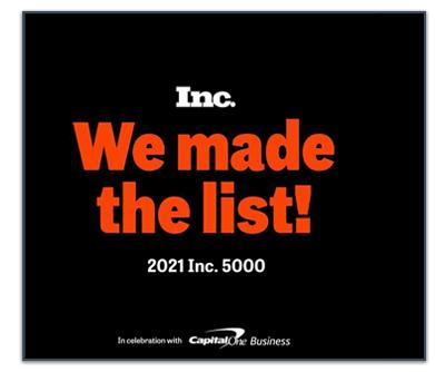 Inc. 5000 Fastest-Growing Company