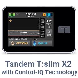 t:slim X2 insulin pump with Control-IQ technology