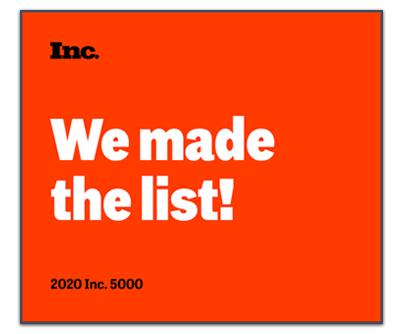 Inc 5000 America's Fastest-Growing Company
